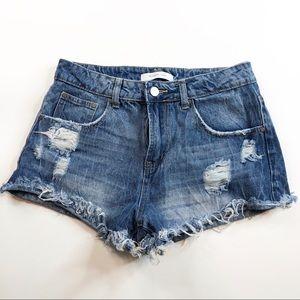 Mustard Seed distressed jeans denim shorts Size M